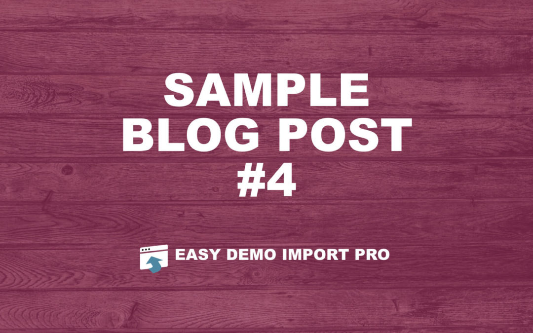 Sample Blog Post #4 – Using Divi Builder
