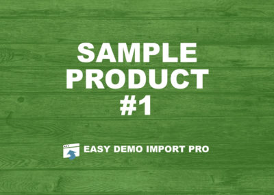 EasyDemoImport.com Sample Product #1