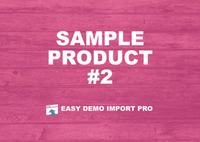 EasyDemoImport.com Sample Product #2