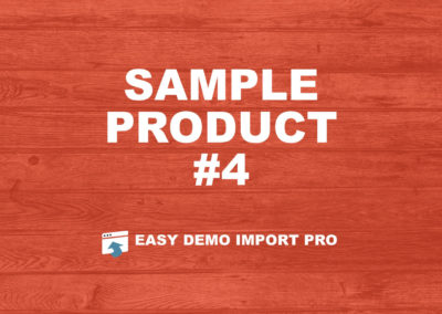 EasyDemoImport.com Sample Product #4